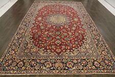 Persiano Tradizionale Lana Vintage 7.2 x 11.9 Oriental tappeto fatto a mano Tappeto Tappetini