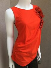 Preowned MNG By Mango Woman Top Tank Sleeveless  SZ S Red