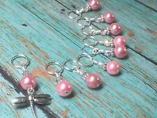 Snag Free Beaded Dragonfly Knitting Stitch Marker Set