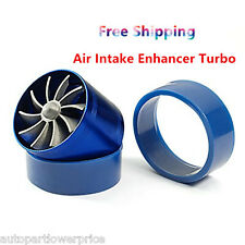 Universal Single Fan Air Intake Supercharger Turbo Turbine Fuel Gas Saver Fan