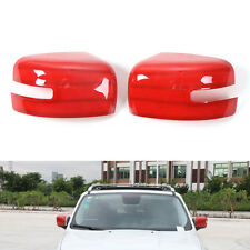 2x Red Car Turn Lights Side Rearview Mirror Cover Trim ABS For Renegade 2015 16