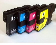 BROTHER SET OF 4 COLOUR LC970 LC1000 DCP130c  LC-970 Compatible Ink Cartridges