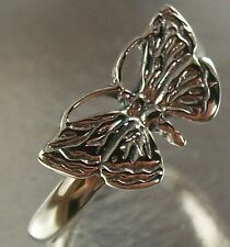 Sterling Silver 925 Butterfly Design Ring US Size 6 3/4 with oxidised finish