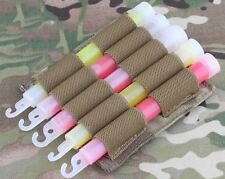 AIRSOFT LIGHT GLOW STICK MOLLE POUCH CHEST RIG BELT MULTICAM MTP