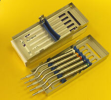 Implant Osteotome Instruments Sinus Lift Dental Lab Set of 5 - Without Cassette