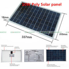 10W Watt 12V Portable PolyCrystalline Poly Solar Panel Module Battery Charger
