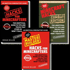 Unofficial Minecrafters Guide 3 Books Set Collection Hacks Combat Master Buider