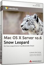 video2brain Mac OS X Server 10.6 Snow Leopard, 10 Stunden Video-Training auf DVD