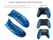 Xbox One Blue Grips Custom Controller 3D Pro Rubberised Grip Rear Handles/Panel