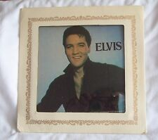 """Vintage 1986 Elvis Presley Glass Picture 6"""" x 6"""" w/Cardboard Frame Carnival"""