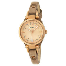 Fossil Georgia Mini Sand Leather Strap Ladies Watch ES3262