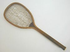 Peck & Snyder Transitional Flat Top Antique Tennis Racquet 1890's, Wood Butt Cap