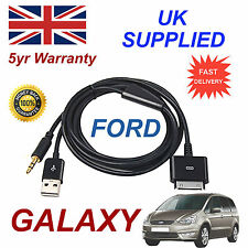 FORD GALAXY 1529487 For Apple 3GS 4 4S iPhone iPod USB & 3.5mm Aux Cable black