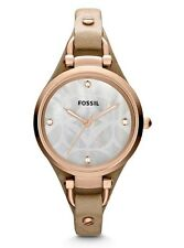 Fossil Watch * ES3151 Georgia Rose Gold Sand Leather Women Ivanandsophia IVN
