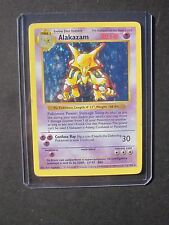 Pokemon SHADOWLESS ALAKAZAM 1/102 - BASE SET HOLO (PL)