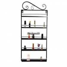 Black Nail Polish Rack Wall Mount Stand Organizer up to 50 Bottles Metal Display