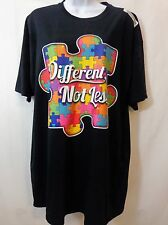 DIFFERENT NOT LESS Autism Awareness Autistic Puzzle T-Shirt Tee Mens Size XL New