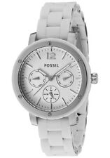 New Fossil Women MultiFunction White Steel/Silicone Women Watch 38mm BQ9409 $135