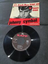 Disque 45 tours Johnny Cymbal ‎- Mr. Bass Man - 214020 (TBE - VG)