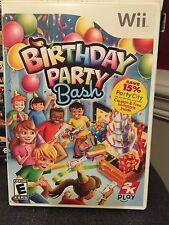 *one owner!* Birthday Party Bash Wii game 2009 MINT w/booklet & cards RATED E