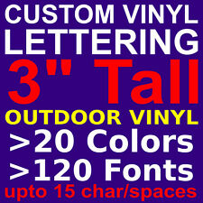 "3"" Custom Vinyl Lettering. Vinyl STICKERS, DECALS, LETTERS for WALL,WINDOW,CAR"