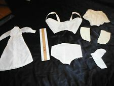 Lot of Vintage/Antique Doll Clothes - Nightgown, Underwear, Bra, Panties, Socks