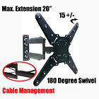 Universal TV Wall Mount Bracket Full Motion Swivel & Tilt for Screens 26