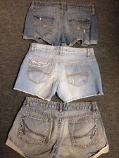 Size 6 7 Lot 3 Pair Shorty Shorts Arizona Jimmyz Old Nave Jean Destroyed Look