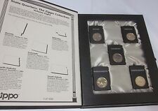 ZIPPO Lighter 2006 State Quarter Set 5 Piece Black Lighter Volume 8 Nevada Lot