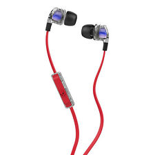 Skull Candy Headphones, Smokin' Bud 2 Spaced Out In-Ear with Mic in Red, Clear