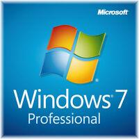 Windows 7 Professional , Vollversion, win 7 pro, 32 Bit ,64 Bit, OEM- Key ,