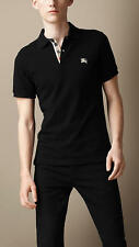 burberry men's black nova check short sleeve polo shirt  t-shirt size 3xl