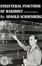 Structural Function of Harmony by Arnold Schoenberg (1969, Paperback,...