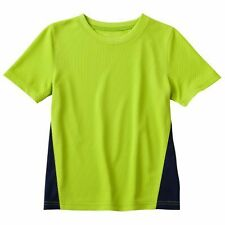 SFK Jumping Beans Colorblock Performance Top - Lime Time shirt kids tshirt