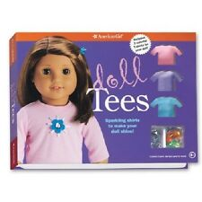 American Girl DOLL TEES craft decorate design 3 tees jewels patterns book NEW