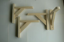 "Wooden Shelf Brackets x 4 (Ideal for 8"" - 9"" Shelves)"