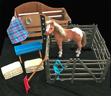 AMERICAN GIRL DOLL My AG Paint Filly Horse Stall Stable Fence & Accessories