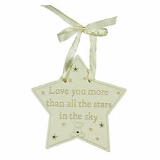 Bambino Resin Hanging Plaque Star - Love you more than all the stars CG1122