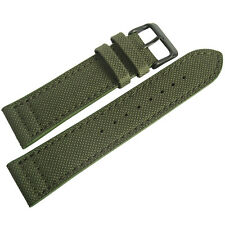 20mm EULIT Green Canvas with PVD Buckle Made in Germany Mens Watch Band Strap