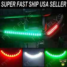 "LED Boat Bow Navigation Lighting RED,GREEN,WHITE 12"" Submersible Marine Strips"