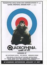 QUADROPHENIA  POSTER. THE WHO,  Mod,  Scooter.