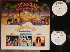 Ex! KISS,DONNA SUMMER,VILLAGE PEOPLE Casablanca Fair JAPAN PROMO-ONLY 3LP HIT-3