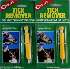 2 TICK REMOVERS -ENDS MESSY DANGEROUS TICK REMOVAL, EASY TO USE, DIRECTIONS