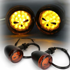 Skull LED Turn Signal light Indicator Blinker For Harley Sportster Nightster 883