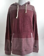 2014 NWT MENS BILLABONG INSERTED STRIPES PULLOVER HOODIE $50 L red multi