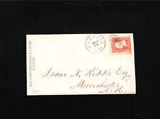 David Cross Concord New Hampshire 3c Washington Grill Circa 1867 Cover Ð