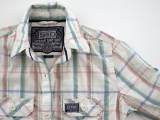 ladies/girls SUPERDRY long sleeve fitted checked shirt XS extra small