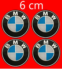 BMW Copricerchi Centro HUB CAPS BADGE EMBLEMA ADESIVO 6cm 60mm Set di 4