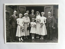 Late 1940s Post-WWII B/W Photograph. Jonathan Moon Family. 40s Wedding Style