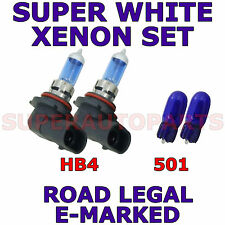 FITS SUBARU FORESTER 2006-ON   SET HB4  501  XENON  SUPER WHITE LIGHT BULBS